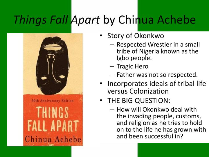 things fall apart by chinua achebe as a tragic story of the anti hero The role of a tragic hero within a story line is essential in a things fall apart tragic hero more relevant that in chinua achebe's novel things fall apart.