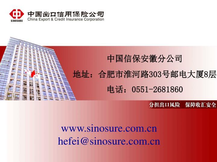 中国信保安徽分公司