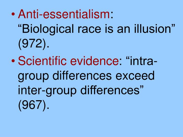 Anti-essentialism