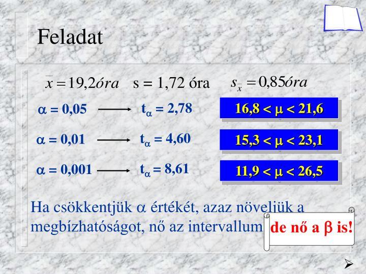 s = 1,72 óra