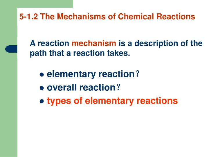 5-1.2 The Mechanisms of Chemical Reactions