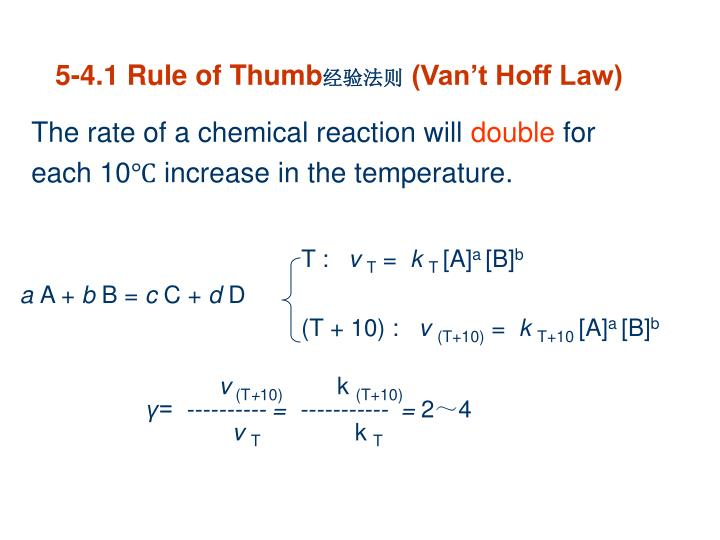 The rate of a chemical reaction will