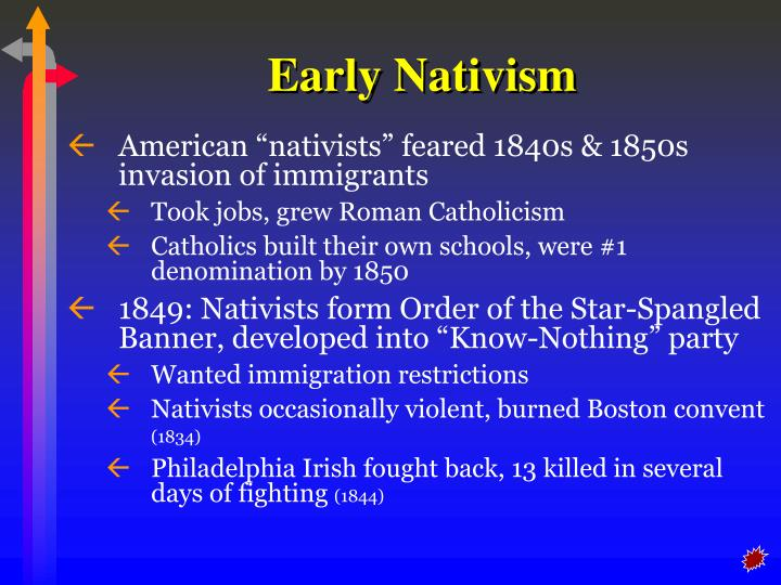 Early Nativism