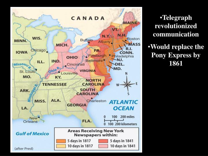 Telegraph revolutionized communication