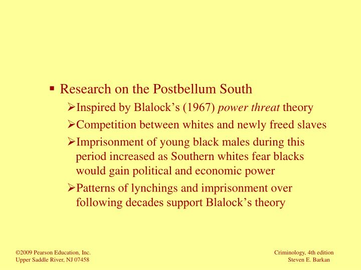 Research on the Postbellum South