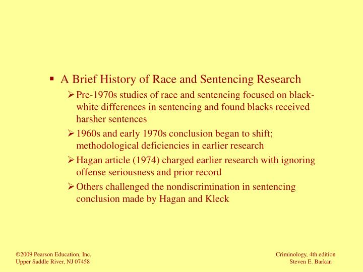 A Brief History of Race and Sentencing Research
