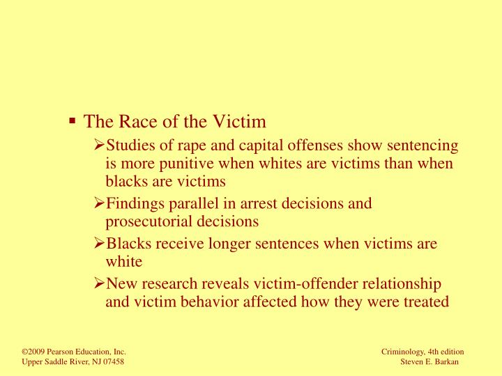 The Race of the Victim