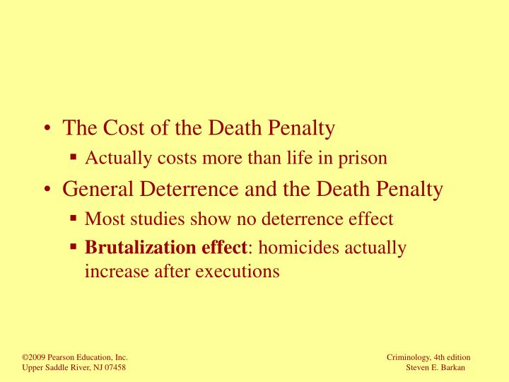 The Cost of the Death Penalty