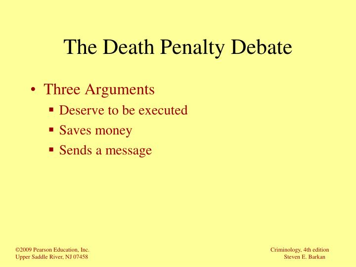 The Death Penalty Debate