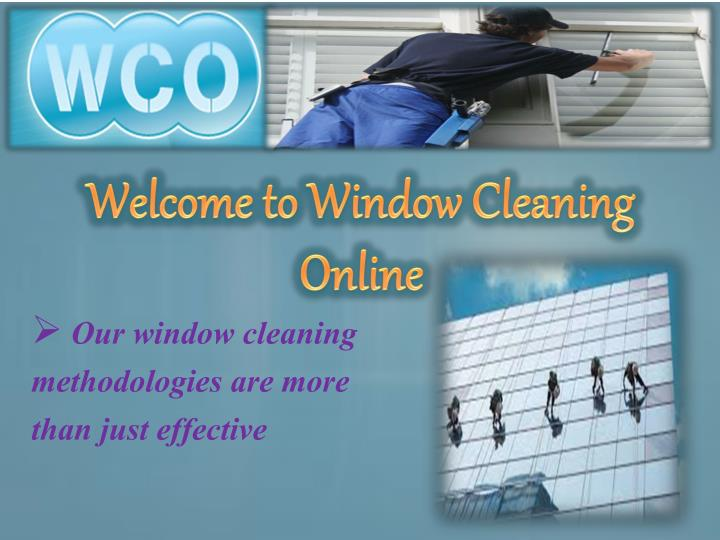 welcome to window cleaning online n.