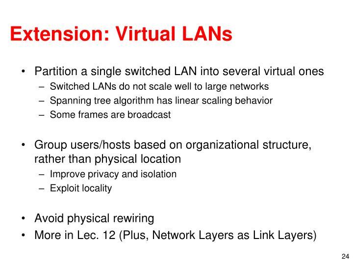 Extension: Virtual LANs