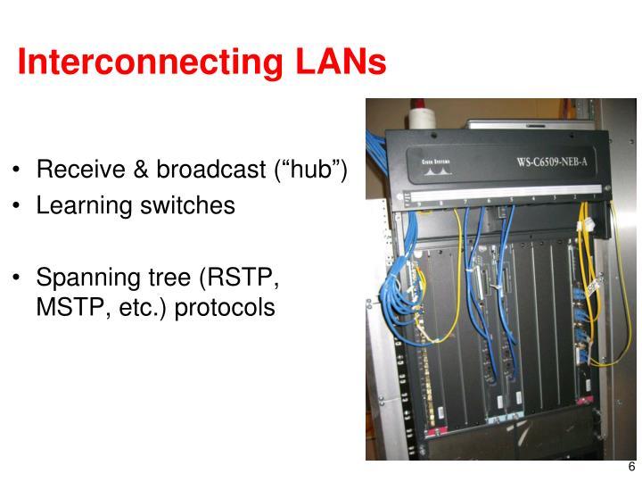 Interconnecting LANs