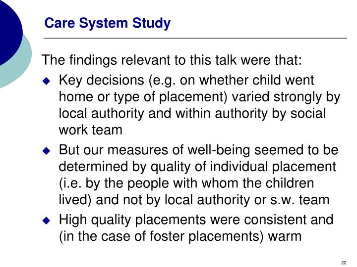 Care System Study