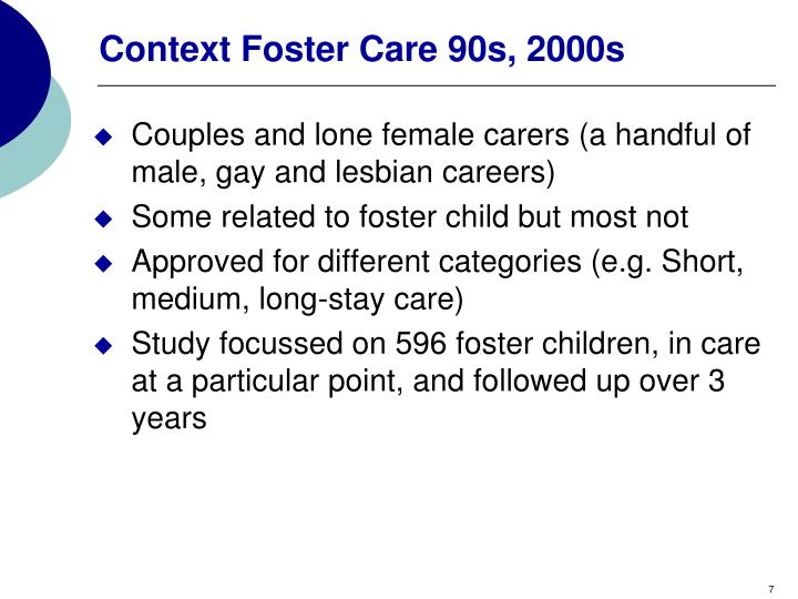 Context Foster Care 90s, 2000s