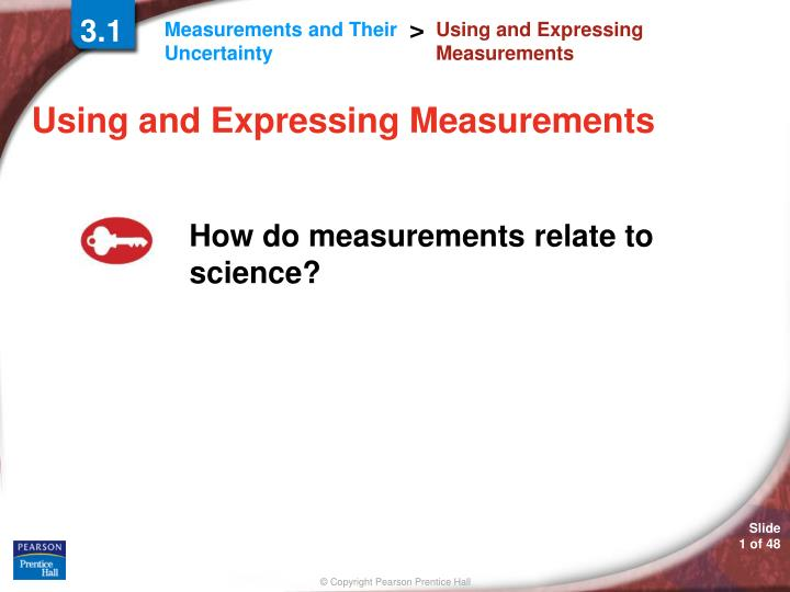 using and expressing measurements n.