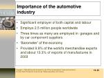 importance of the automotive industry
