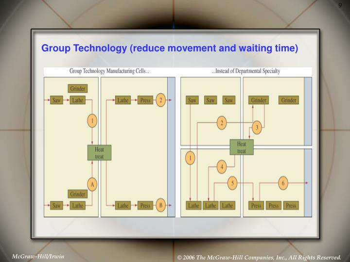 Group Technology (reduce movement and waiting time)