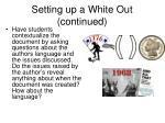 setting up a white out continued