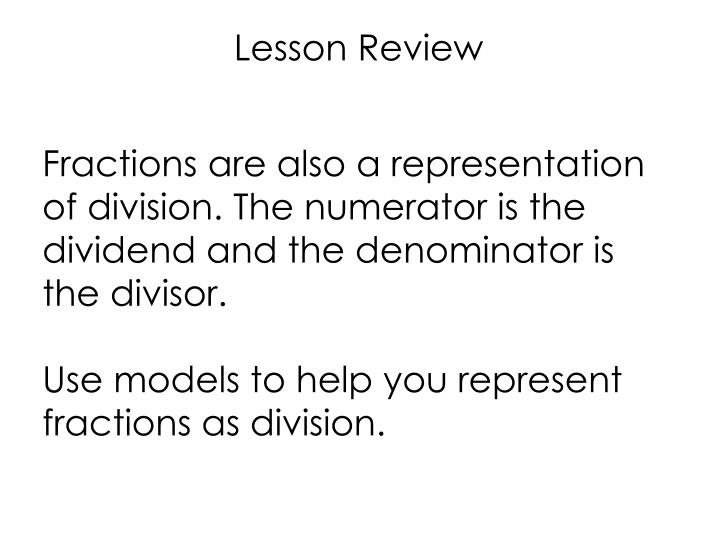 Lesson Review