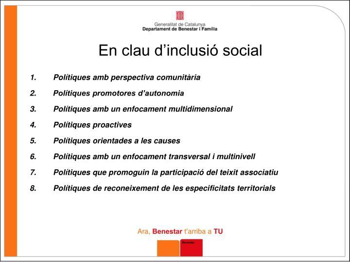 En clau d'inclusió social