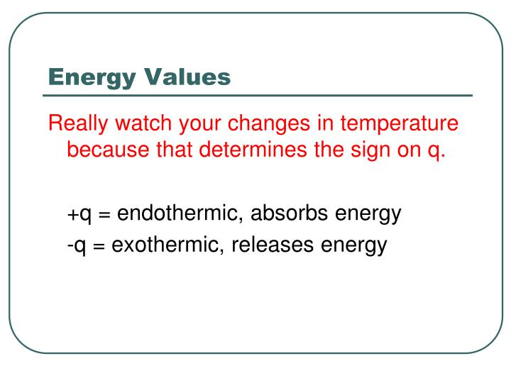 Energy Values
