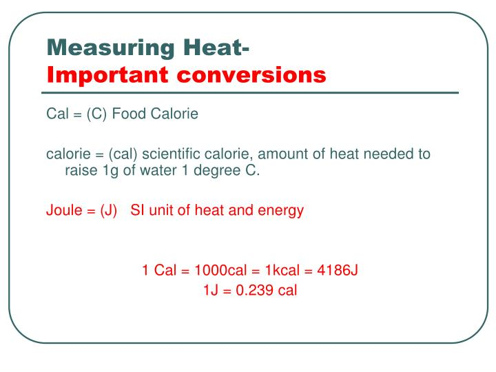 Measuring Heat-