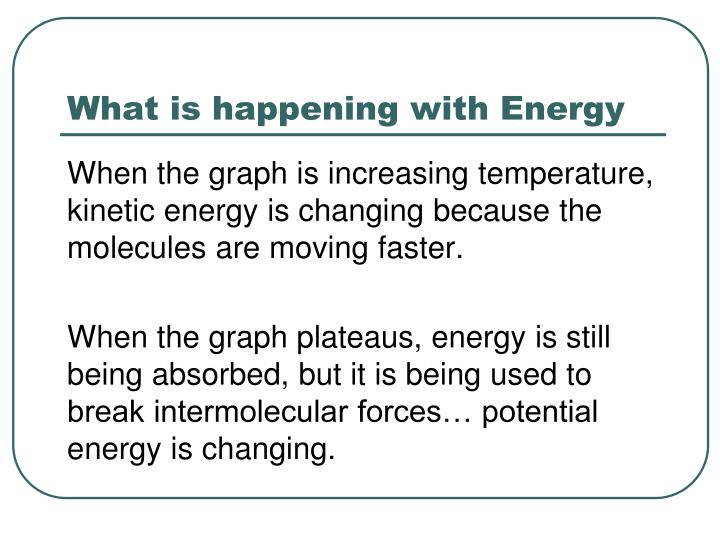 What is happening with Energy