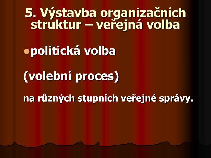 5. Výstavba organizačních struktur – veřejná volba