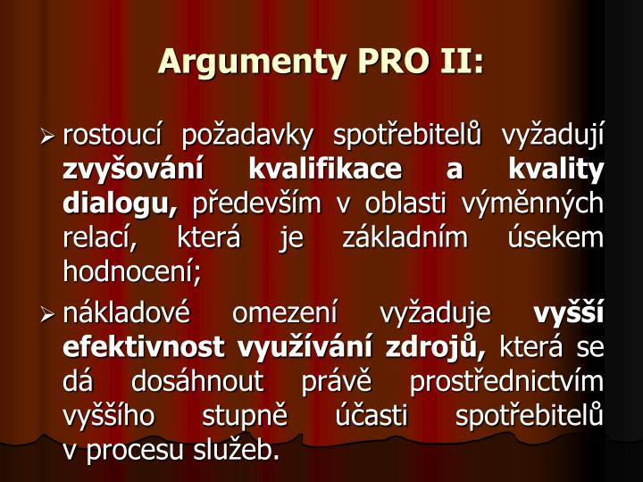 Argumenty PRO