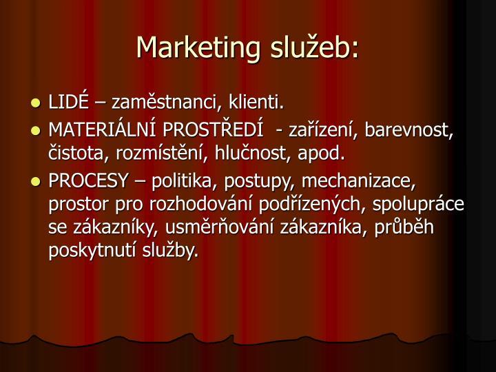 Marketing služeb: