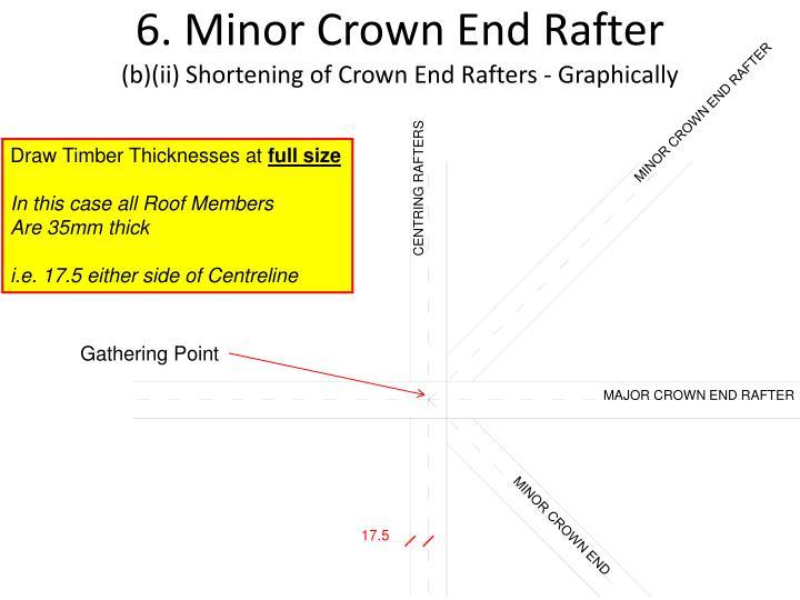 6. Minor Crown End Rafter