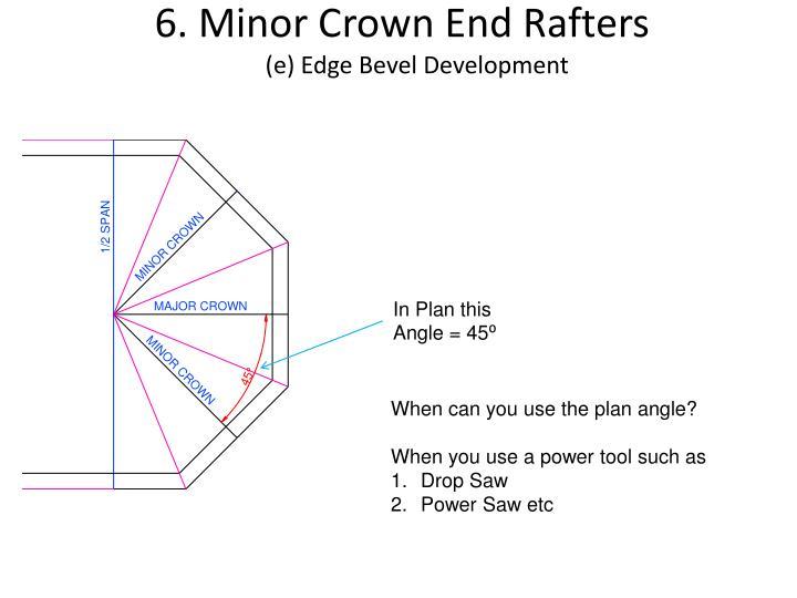 6. Minor Crown End Rafters