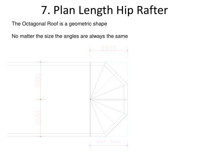7. Plan Length Hip Rafter