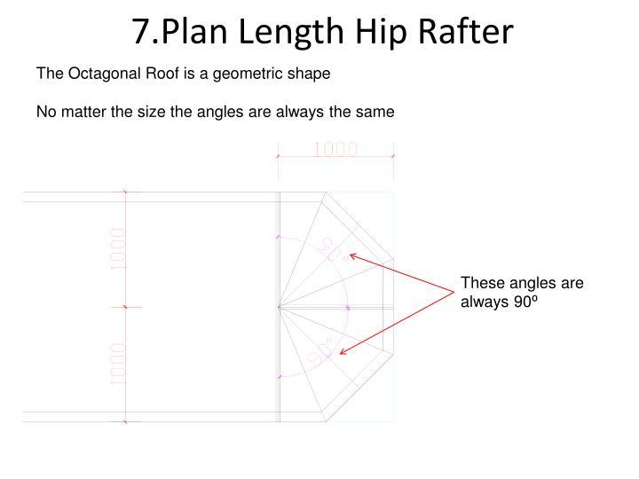 7.Plan Length Hip Rafter