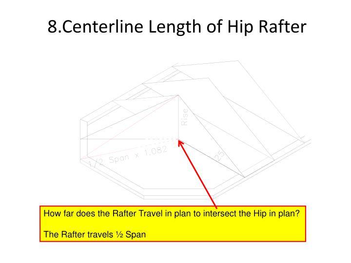 8.Centerline Length of Hip Rafter