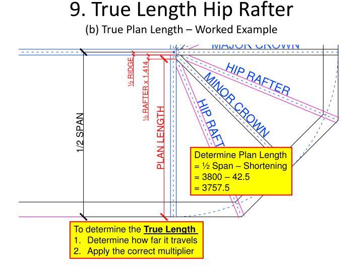 9. True Length Hip Rafter