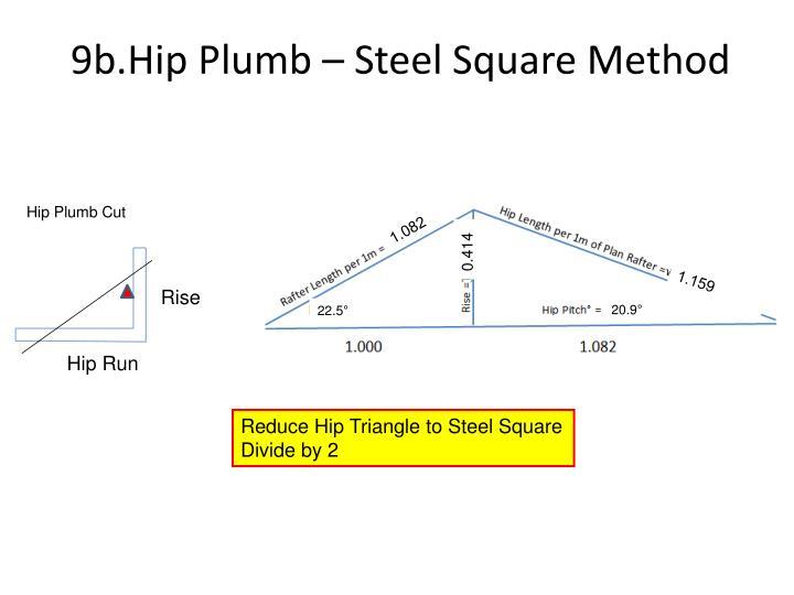 9b.Hip Plumb – Steel Square Method