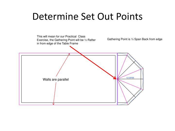 Determine Set Out Points