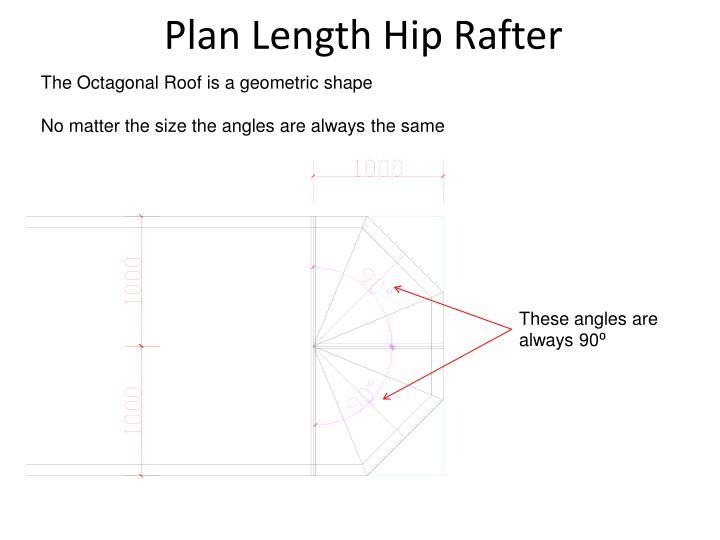 Plan Length Hip Rafter