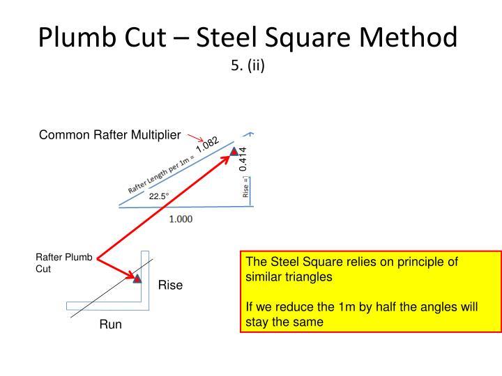 Plumb Cut – Steel Square Method