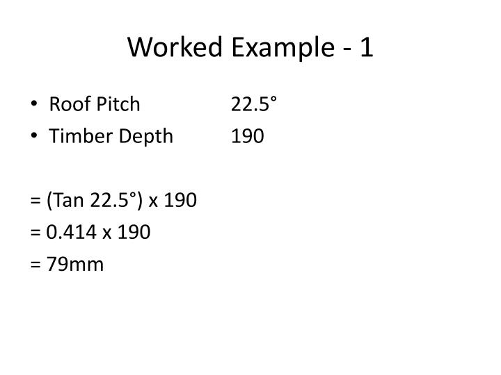 Worked Example - 1