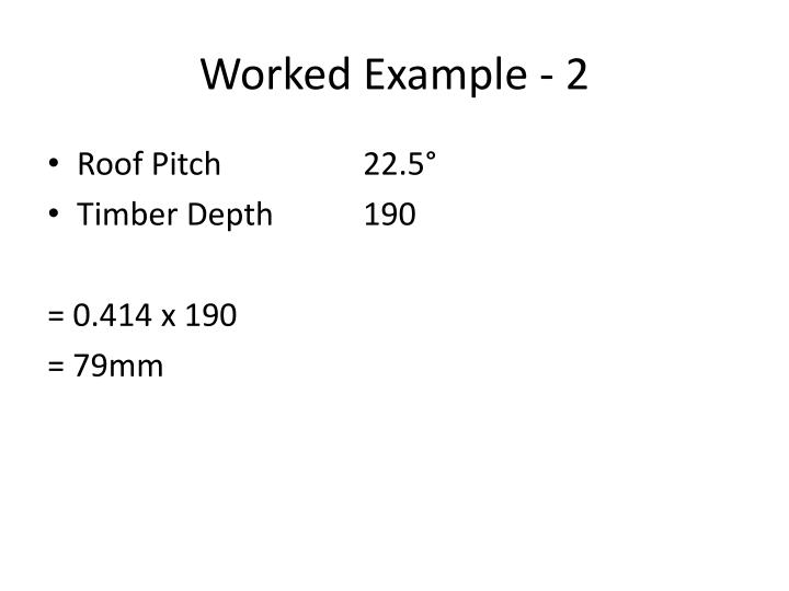 Worked Example - 2