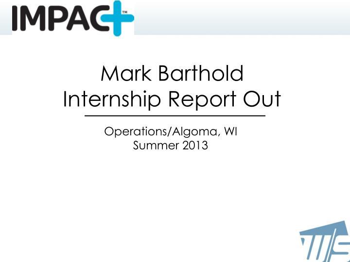 Mark Barthold