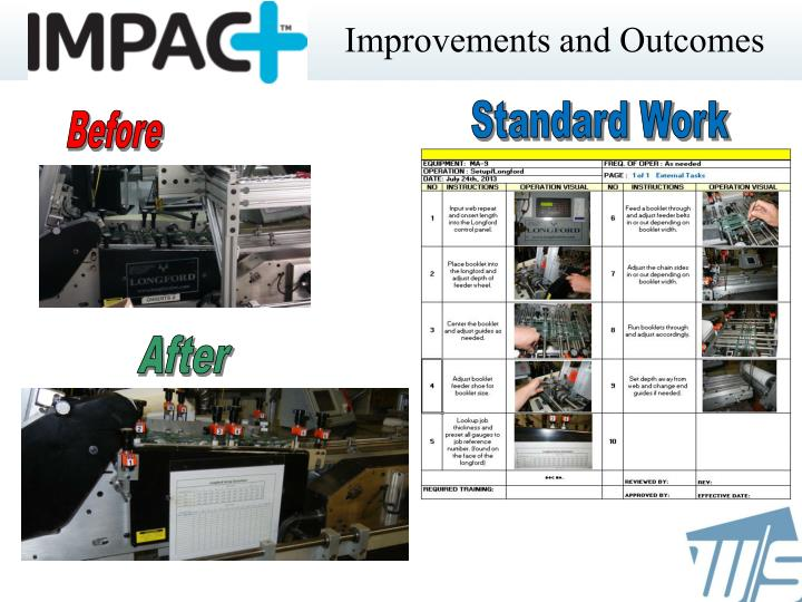 Improvements and Outcomes