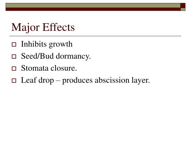 Major Effects