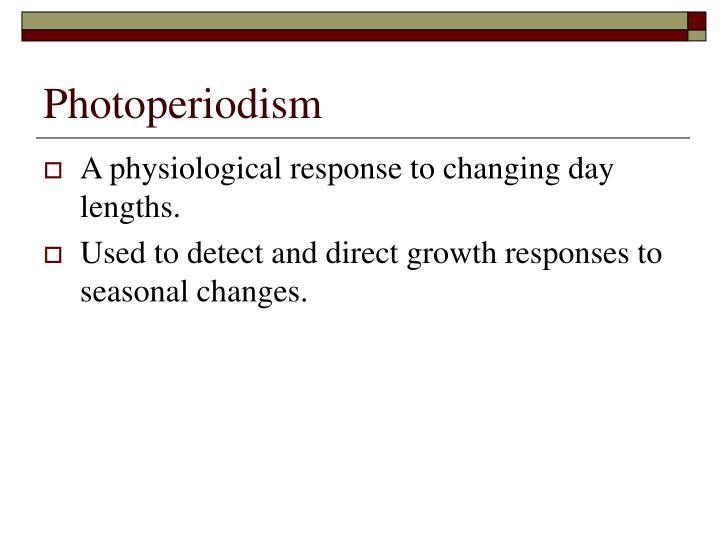 Photoperiodism