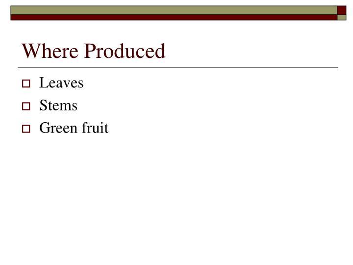 Where Produced