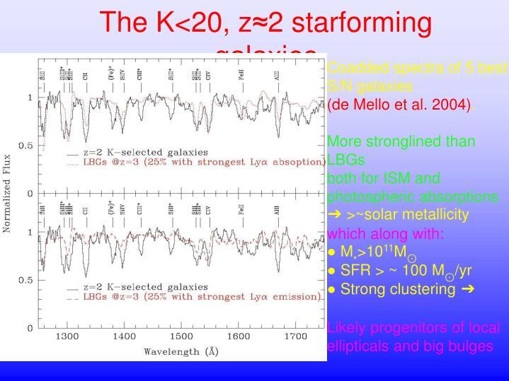 The K<20, z