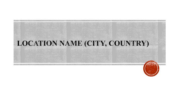 location name city country