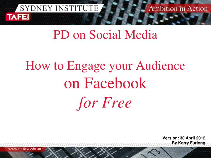 pd on social media how to engage your audience on facebook for free n.